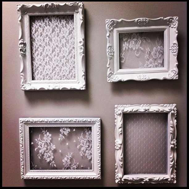 Diy project lace frames for Old picture frame projects