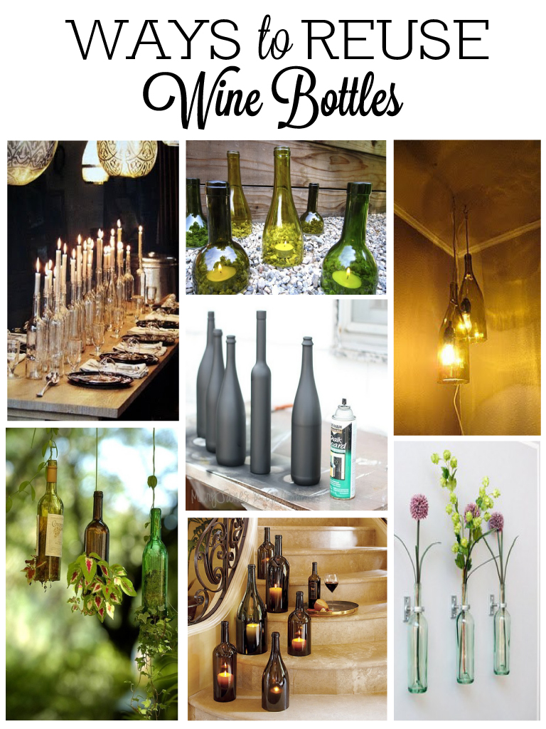 Wine bottle decorations for Creative ideas for empty wine bottles